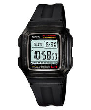 CASIO F-201WA-1A Standard Digital 10 Years Battery Life Classic Resin Black