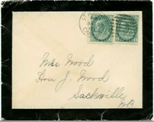 NICE 1900 Numeral issue Mourning cover to Sackville, NB