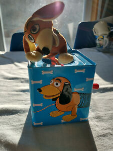 RARE New Slinky Jack in a Box Toy Story Wind Up Fun Plush W/Music and Jumps 2010