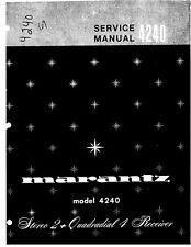 Service Manual-Anleitung für Marantz 4240