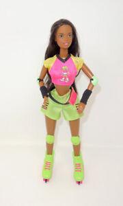 Vintage 1998 Roller Skating Christie African American Barbie Doll Skates Blade