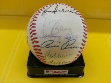 Chicago Cubs White Sox Old-Timers Game Signed Baseball Ernie Banks Tommy Agee