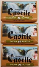 3 BARS Blue Power Castile Beauty Bar Soap  with Cocoa Butter 3.9 oz each