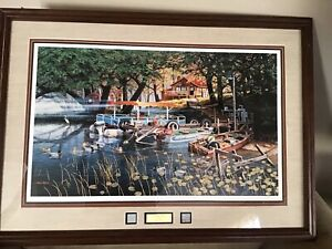 """Ken Zylla """"WillowBay"""" - Signed, Numbered, Artist Proof, Double Matted, Framed"""