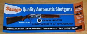 SAVAGE ARMS 1955 MODEL 775-SC AUTOMATIC SHOTGUN UNUSED STORE DISPLAY POSTER
