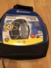 Michelin 92308 cadenas para la nieve, M1 Extreme Grip 60, ABS y ESP compatible, un TÜV/GS