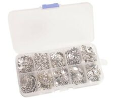 Fast post 390PCS/BOX Antiqued Silver Metal Beads Caps W/Container (10 Styles)