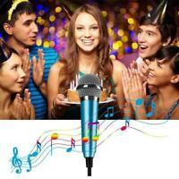 Mini Karaoke Kondensator Stereomikrofon für Handy Computer L4P0