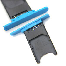 Genuine Sim Tray Card Holder Replacement Blue For Nokia Lumia 800 uk seller