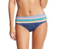 Sperry Womens Blue Shipmate Surf Hipster Stripes Bikini Bottom Swimwear Size XS