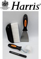 Harris Wallpaper Hanging Set 4pc Decorating Kit Smoothing Brush Scraper Roller