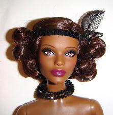 Nude Barbie Doll AA Claudette Gordon Articulated Pivatol Barbie Doll bn374