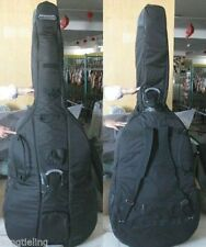 black color double bass soft bag 3/4 with a great waterproof cloth with bow case