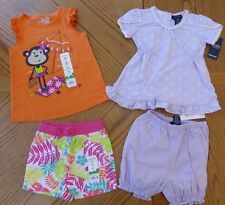 NEW 24 Months Girls Summer clothes LOT Chaps Shorts Top pink orange lavender NWT