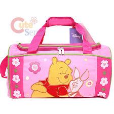 "Disney Winnie the Pooh & Piglet Duffle Bag Travel Gym Sports Bag : 16"" Large"