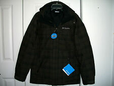 NWT Columbia Size S Turbo Tracker 3 In 1 Interchange Parka Jacket $260 Brown/Blk