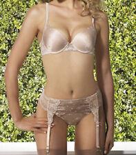 Felina ANNETTE Padded Bra / Thong / Garter Belt, 34A / M Fawn