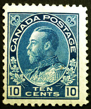 Canada #117 5c Blue 1922 King George V VF MLH Full Gum Rare