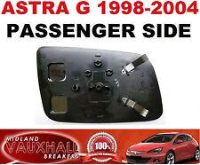 VAUXHALL ASTRA G MK4 MANUAL DOOR WING MIRROR GLASS PASSENGER NEAR SIDE  CLUB LS