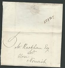 1887 entire to Norwich with manuscript 5 and super Guist straight line in black