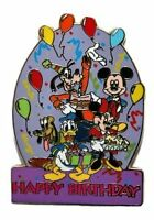 Disney DLR Happy Birthday FAB 5 Mickey Mouse Goofy Pluto Donlad Duck Pin