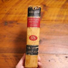 Antique 1888 Maryland Reports William Keech Court of Appeals Leather Bound Book