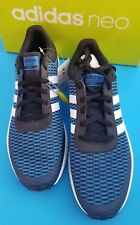 adidas Neo Men's CF Race Running Shoe - SZ 11 BLK/WHITE/BLUE -NIB-SAME DAY SHIP