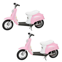 Razor Pocket Mod Miniature Euro 24 Volt Electric Retro Scooter, Pink (2 Pack)