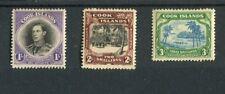 Cook Islands KGVI 1938 set of 3 SG127/9 MLH