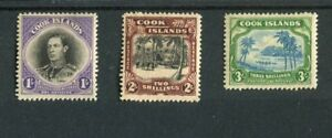 Cook Islands KGVI 1938 set of 3 SG127/9 MLH