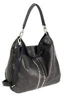 Damen Handtasche schwarz Schultertasche Umhängetasche günstig in Top Qualität