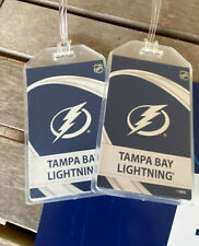 TAMPA BAY LIGHTNING LUGGAGE TAGS -  BACK TO BACK STANLEY CUP CHAMPS - SET of 2