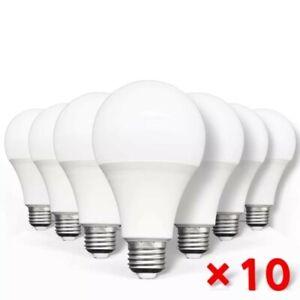 Pack 10 Bombillas LED E27 12W equivalentes a 100W - Blanco calido
