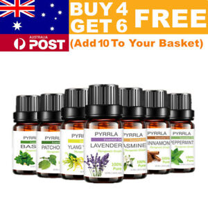 10ml Essential Oils 100% Pure Natural Aromatherapy Diffuser Essential Fragrances