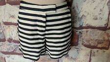 DALIA WHITE & NAVY STRIPED COTTON BLEND SHORTS SIZE 4 NWT FREE SHIP