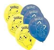 Pokemon Pickachu Poke Meowth Balloons Lot of 12 Balloons 12 Inch US Seller New