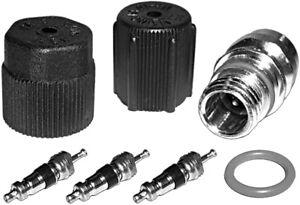 AC A/C System Cap & Valve Cores Santech Rapid Seal Kit Air Conditioning Service