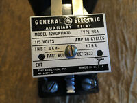 General Electric  GE 12HGA11A70 Auxiliary Relay 115 volts