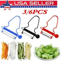 US 3/6pcs Magic Peeler Set Trio Peeler Slicer Shredder julienne veg Fruit Cutter