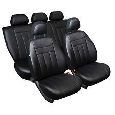 Nissan Micra III K12 Maßgefertigte Kunstleder Sitzbezüge in Schwarz