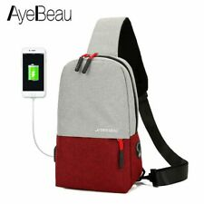 Casual USB Fashion Crossbody Bag Business Style Small Messenger Shoulder Bag