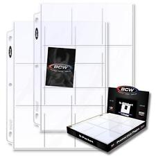 500 BCW 9-Pocket Clear Trading/Sports Card Album Pages/ Coupon Binder Sheets