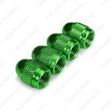 suits KIA Metallic GREEN Metal Steel Dust Valve Wheel Tyre Caps (DC4)