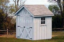 6' x 6' Playhouse / Garden Shed Gable Plans, Material List Included # 80606