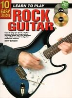 10 EASY LESSONS Rock Guitar Book + CD & DVD