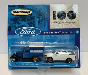 Matchbox Ford 100 Years Then & Now Series #2 Pair of Diecast Vehicles - New