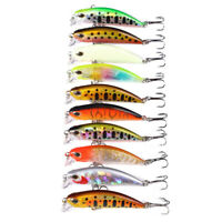 10pcs 3D Eyes Jerkbait 5g 5cm Fishing Lure Sinking Minnow Wobbler Lure Bass new