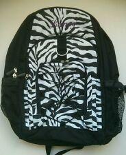 Pottery Barn PB Teen Black White Zebra Gear Up Large Backpack name LANEY New!