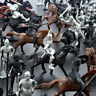 28PCS Medieval Knights Warriors Horses Soldiers Figures Model Useful Ornament