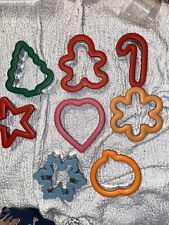 Lot Of 8 Mixed Wilton Comfort Grip Cookie Cutters